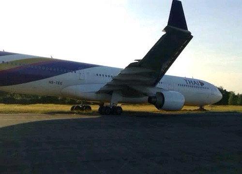 กู้บินไทยตกรันเวย์ได้แล้วเปิดใช้สนามบินขอนแก่นปกติ