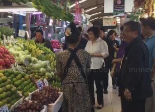 พาณิชย์ตรวจตลาดยิ่งเจริญพบผลไม้แพง