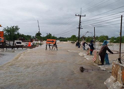 ทางหลวงชนบทสรุปน้ำท่วมถนน113สายทาง