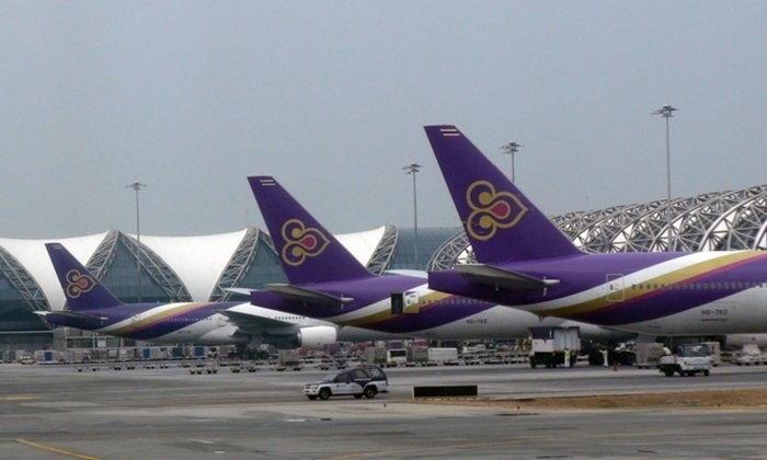 """การบินไทยเปลี่ยนขนาดเครื่องบินใช้ """"บิ๊กไซส์""""  รับผู้โดยสารตกค้างที่ฮ่องกง"""