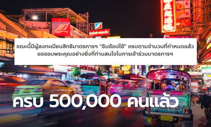 เต็มช้าแต่เต็มนะ! ชิมช้อปใช้ 2 รอบแรกของวันที่ 2 ในช่วงเช้าเต็มแล้ว 500,00 คน