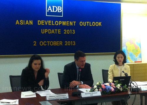 ADBลดGDP56ไทยเหลือ3.8%จาก4.9% เหตุศก.ชะลอ