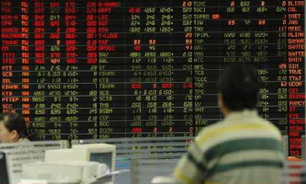 หุ้นไทยปิดตลาดเช้า ร่วง 15 จุด