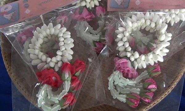 ดอกมะลิประดิษฐ์จากทิชชู่ขายดีรับวันแม่