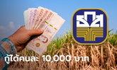 ธ.ก.ส. ปล่อยกู้สู้ภัยโควิด-19 คนละ 10,000 บาท พร้อมเปิดพักหนี้เงินต้น 6 เดือน