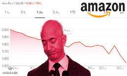 """หุ้น Amazon ดิ่งลง 23% ใน 11 วัน """"เจฟฟ์ เบโซส"""" เงินหาย 6 แสนล้าน"""