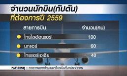 3 สายการบินต้นทุนต่ำต้องการนักบินเพิ่ม 100 อัตรา