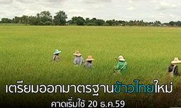 เตรียมออกมาตรฐานข้าวไทยใหม่ คาดเริ่มใช้ 20 ธ.ค.59