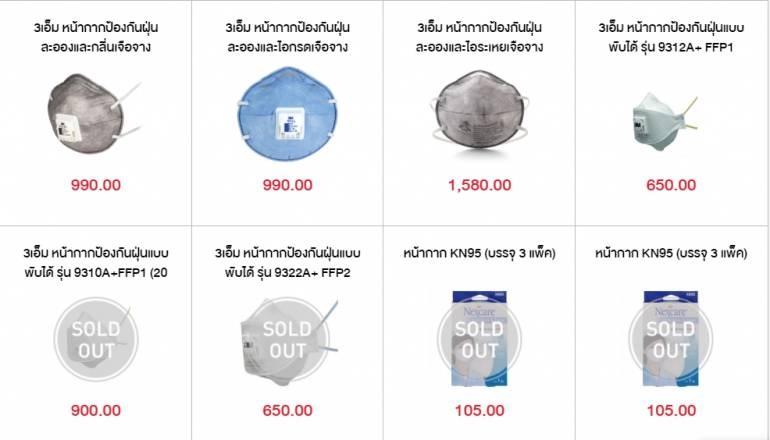 ร้านขายหน้ากากป้องกันอนุภาคฝุ่นละออง N95