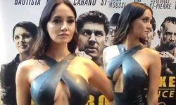 ต้องร้องอู้ว! ซาร่า มาลากุล เซ็กซี่โนบราในชุดหนังรัดรูป เปิดตัวหนังฮอลลีวู้ด