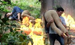 """เกรท โชว์แมน ฝ่าระเบิดช่วย โย่ง ถูกไฟคลอก """"คนละขอบฟ้า"""""""
