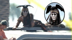 หลุดภาพเบื้องหลัง จอห์นนี่ เดปป์ ใน The Lone Ranger