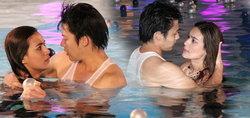 เคลิ้ม! 'หมาก-คิม' แข่งว่ายน้ำกอดแนบในสระ ละคร แอบรักออนไลน์
