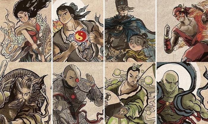 เมื่อเหล่าหนังดัง กลายเป็นศิลปะจีนสุดเจ๋ง