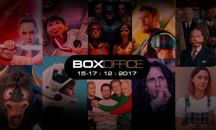 Box Office (15-17 ธ.ค. 2017) เปิดตัว 3 วันแรก The Last Jedi จัดไป 450 ล้านเหรียญทั่วโลก