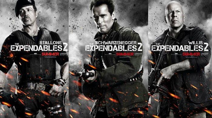 โฉมหน้า 12 มือสังหารในใบปิดหนัง The Expendables 2