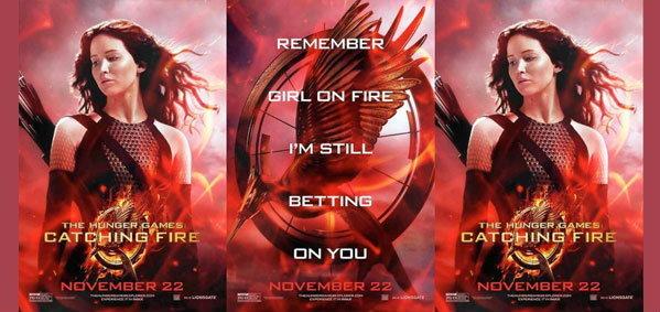 ไฟปฏิวัติโหมกระพือ! บนใบปิดสุดท้าย The Hunger Games: Catching Fire