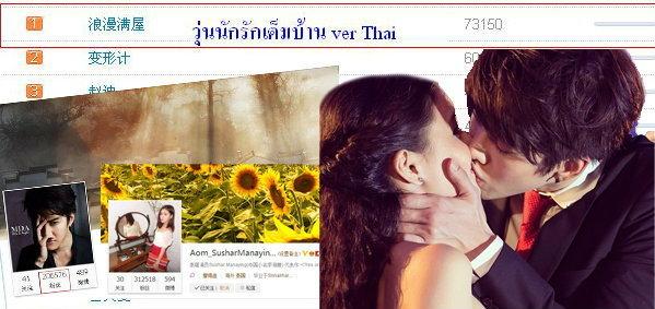 Full House ไทย ถูกค้นหาเป็นอันดับหนึ่งบนเว็บไซต์ weibo ของจีน