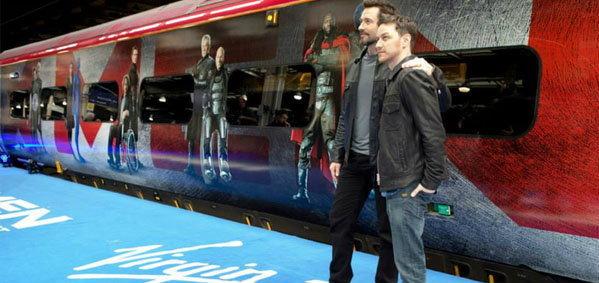 ฮิวจ์ แจ็คแมน และ เจมส์ แม็คอวอย เปิดตัวรถไฟสาย X-Men: Days of Future Past