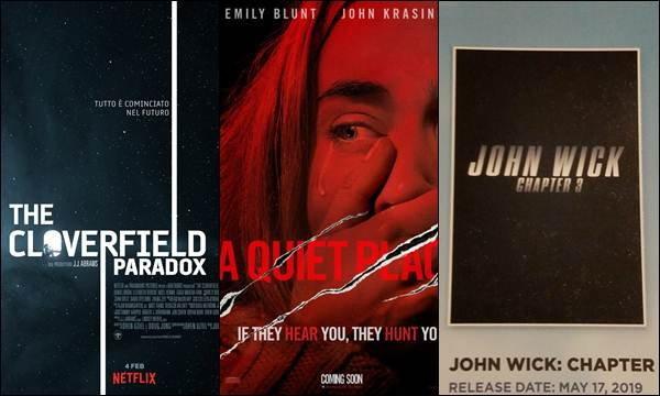 ภาคต่อ A Quiet Place, Cloverfield, John Wick Chapter 3 มาแน่มาอัพเดทข่าวกัน