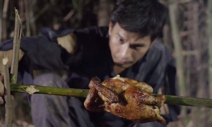 """ชาวเน็ตวิเคราะห์ปิ้งไก่ """"อังกอร์"""" ไก่สุก... แต่ไม้ยังดิบอยู่เลย"""