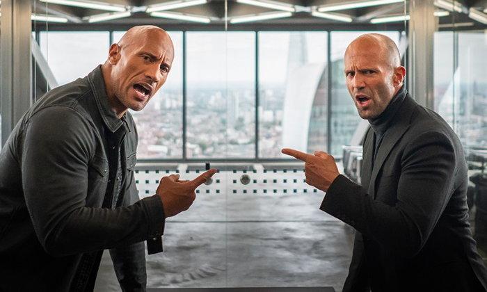 """""""ดเวย์น จอห์นสัน-เจสัน สเตแธม"""" อริจับคู่ซิ่ง ภาคแยก Fast & Furious Presents: Hobbs & Shaw"""