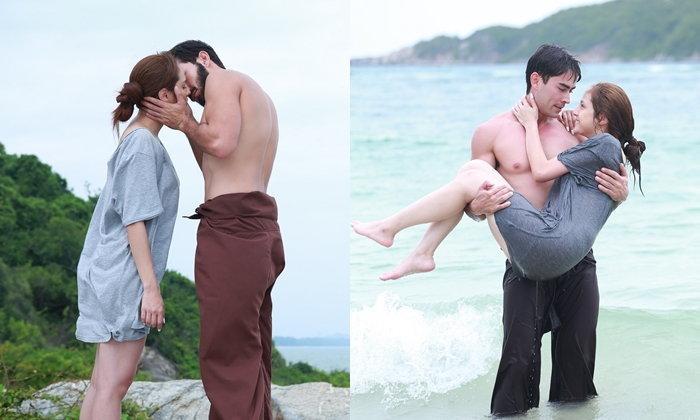 """""""หลุยส์-ขวัญ"""" สวีท บอกรักส่งจูบ ทะเลหวาน """"ไฟหิมะ"""""""