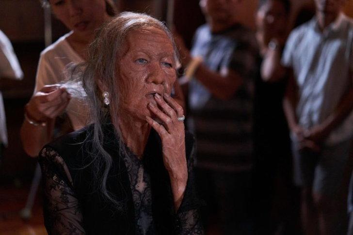 """""""ยุ้ย จีรนันท์"""" แต่งหน้า เป็นวัยคุณยายแก่หน้าเหี่ยว อายุ 100 ปี """"วิมานมนตรา"""""""