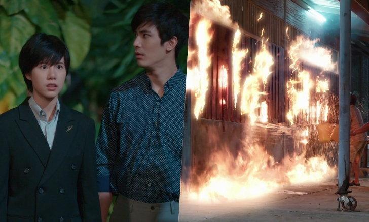 """""""เอสเธอร์"""" ทุ่มสุดตัว! วิ่งหนีตายช่วยดับไฟไหม้ห้องสมุด """"เล่ห์เกมรัก"""""""