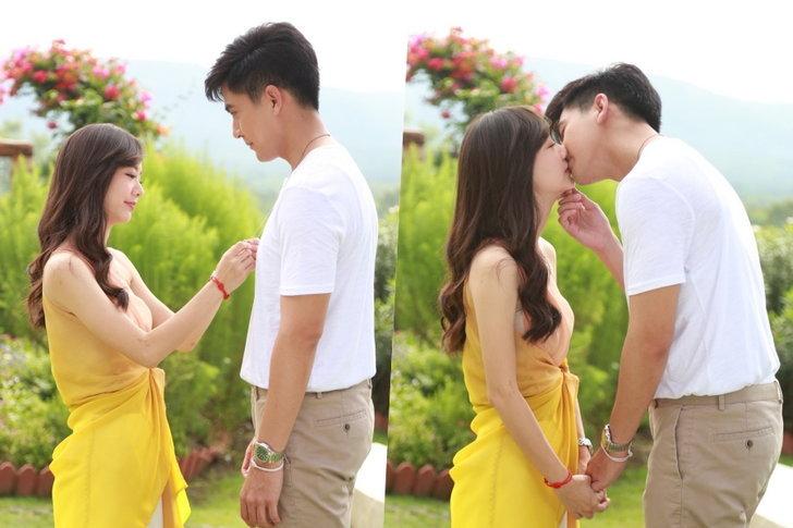 """""""เต้ย-เต้ย"""" หวานลาจอ ปั้นจูบประทับรักปิดฉาก """"ความทรงจำสีจาง"""" ตอนจบ"""