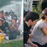 หญิง รุดไหว้ศาลนวลฉวี สะพานนนทบุรี