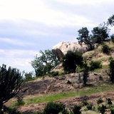 similar rock in the Serengeti of Kenya