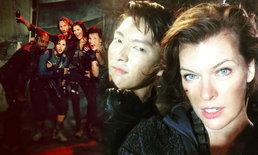 กรี๊ดดังมาก เมื่อเหล่านักแสดง Resident Evil: The Final Chapter กระหน่ำรูปลง IG