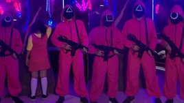 คาเฟ่ในอินโดนีเซียหัวใส จัดอีเวนท์แข่ง Squid Game ให้ลูกค้าร่วมสนุก