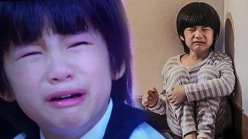 """ร้องไห้จนน่าสงสาร """"น้องออม ชาญคามิน"""" น้องพีท น้ำตาสั่งได้ ใน """"แรงตะวัน"""""""