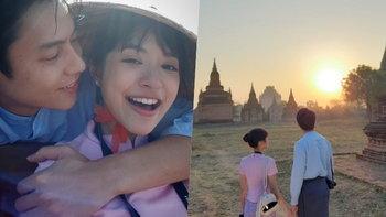 """ส่องภาพหวาน """"หมาก-มิว"""" เที่ยวพม่าใน """"อกเกือบหักฯ"""" น่ารักมากจนต้องยิ้มตาม"""