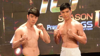 """10 Fight 10 ซีซั่น 2 ชั่งน้ำหนัก """"กำปั้น บาซู"""" vs """"หนุ่ม คงกระพัน"""" รุ่นเก๋าใจเกินร้อย!"""