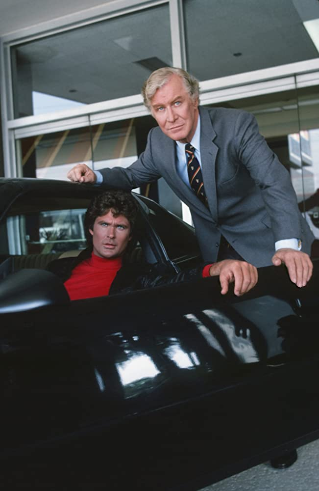 David Hasselhoff and Edward Mulhare in Knight Rider (1982)