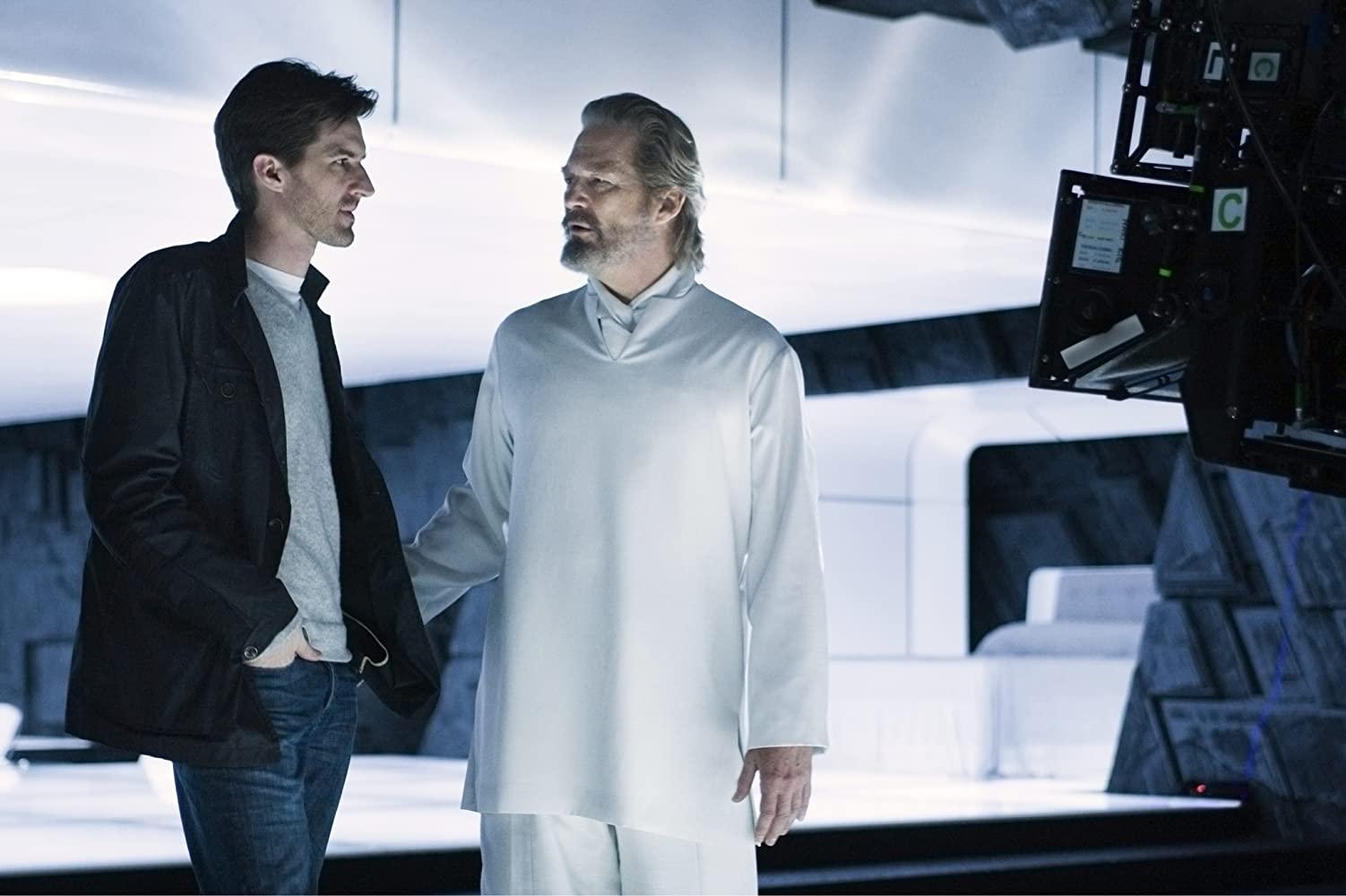 Jeff Bridges and Joseph Kosinski in Tron (2010)