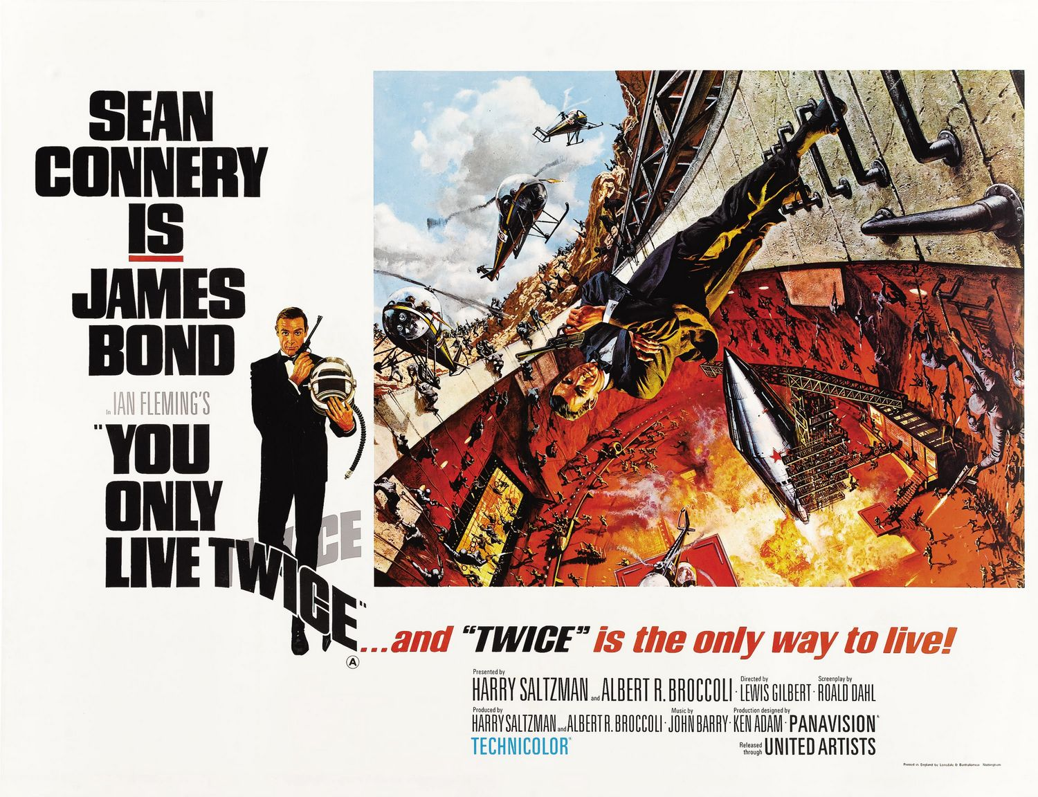Extra Large Movie Poster Image for You Only Live Twice (#4 of 4)