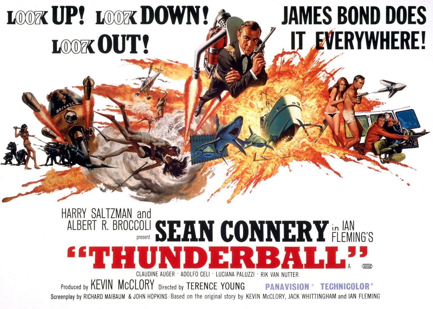 Extra Large Movie Poster Image for Thunderball (#4 of 4)