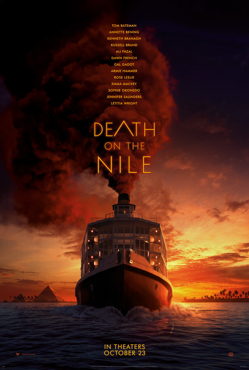 Extra Large Movie Poster Image for Death on the Nile (#2 of 2)