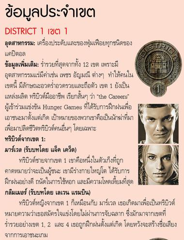 The Hunger Games เขต 1