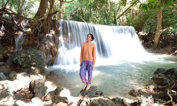 มากางเต็นท์ เล่นน้ำตก @น้ำตกห้วยแม่ขมิ้น กาญจนบุรี