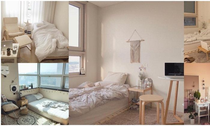 20 ไอเดีย แต่งห้องนอนขนาดเล็ก แต่งง่าย ๆ แต่น่านอนมาก IG  ggulhouse