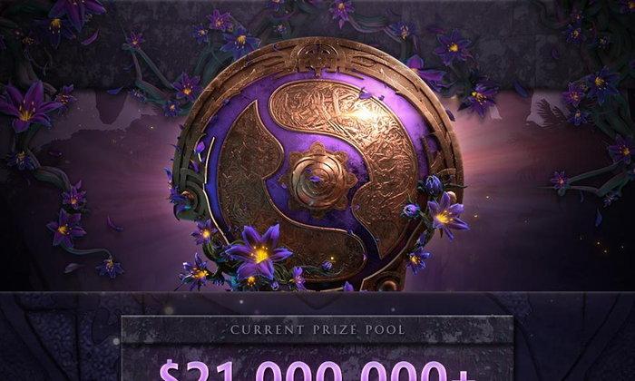 ขออีก 9 ล้าน  ยอดเงินรางวัล TI9 พุ่ง 21 ล้านดอลลาร์แล้วคาดอีกไม่นานแซง Fortnite World Cup แน่