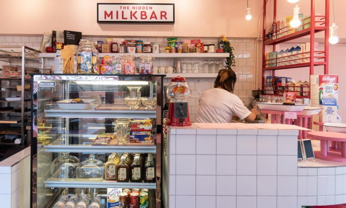 The Hidden Milk Bar ร้านขนมหวานสีลูกกวาดในคราบร้านขายของชำกลิ่นอายออสซี่