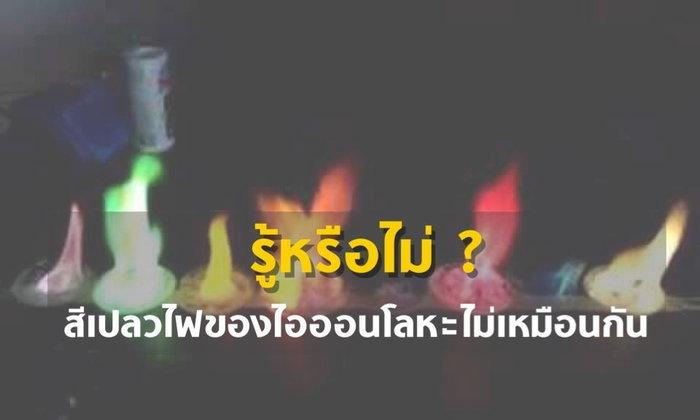 รู้หรือไม่ ? : สีเปลวไฟของไอออนโลหะไม่เหมือนกัน