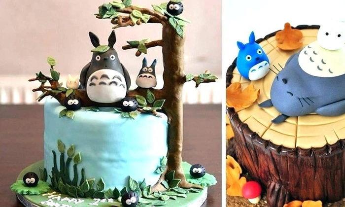 เค้กที่ได้แรงบันดาลใจจากการ์ตูนเรื่อง Totoro น่ารักและงดงามจนใครหลายๆ คนไม่กล้ากิน!