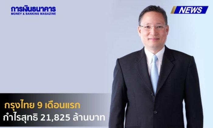 กรุงไทย 9 เดือนแรก กำไรสุทธิ 21,825 ล้านบาท